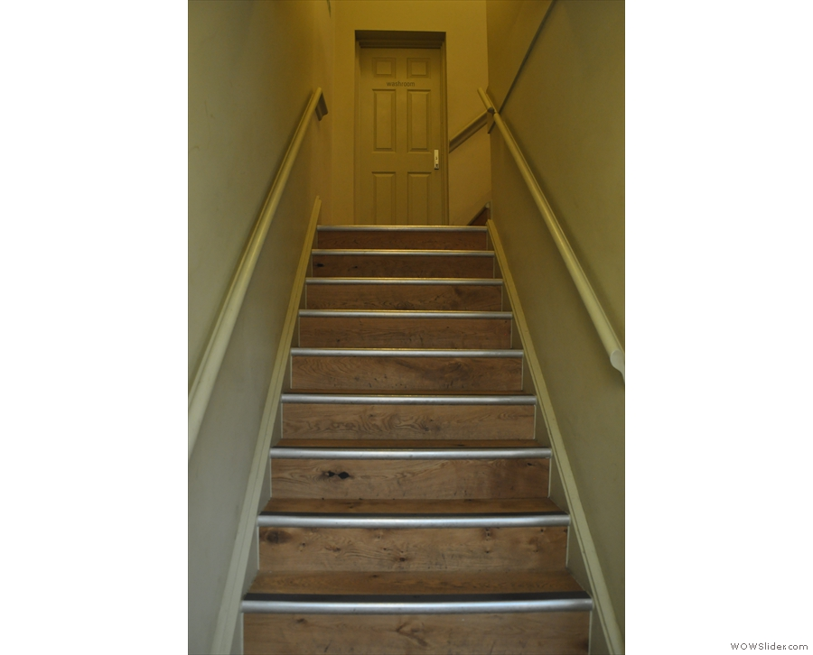 If you can't find anything downstairs, right at the far end, you'll find these stairs...