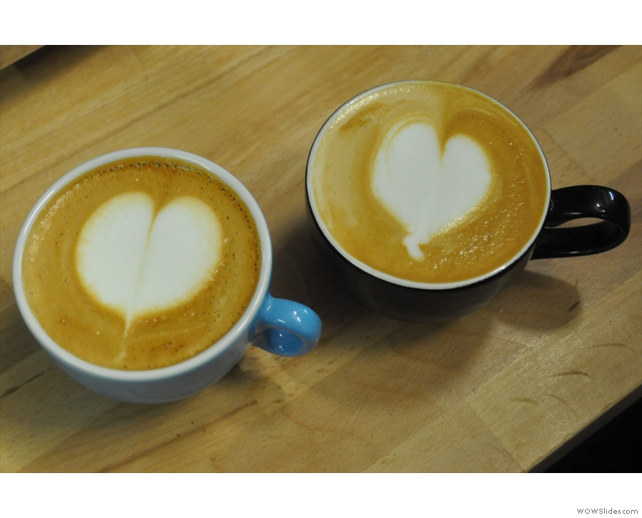 ... and latte art classes with Dhan Tamang, organised by The Roasting Party.