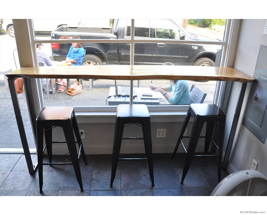 If you like, you can sit here, at the window-bar.