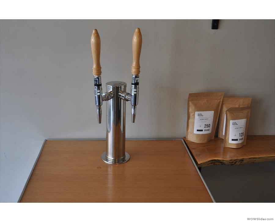 There is also nitro-infused, chilled pour-over on tap.