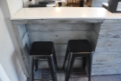 However, I prefer these two bars stools at the left-hand end of the counter.
