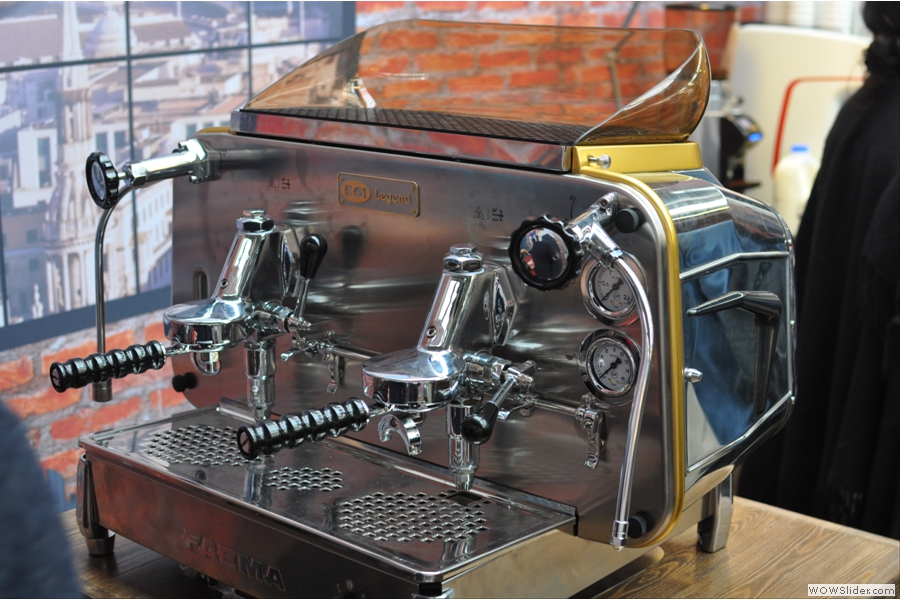 Looking very like a modern machine, the Faema introduced many 'firsts' which are still used in machines today.