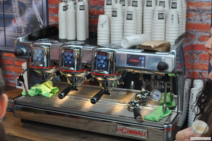 The very shiny M100, La Cimbali's latest offering.