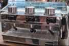 The business end of the Granluce, looking very much like a modern-day espresso machine