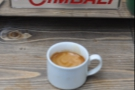 Apologies for the out-of-focus picture of the espresso! The reflection's in focus though.