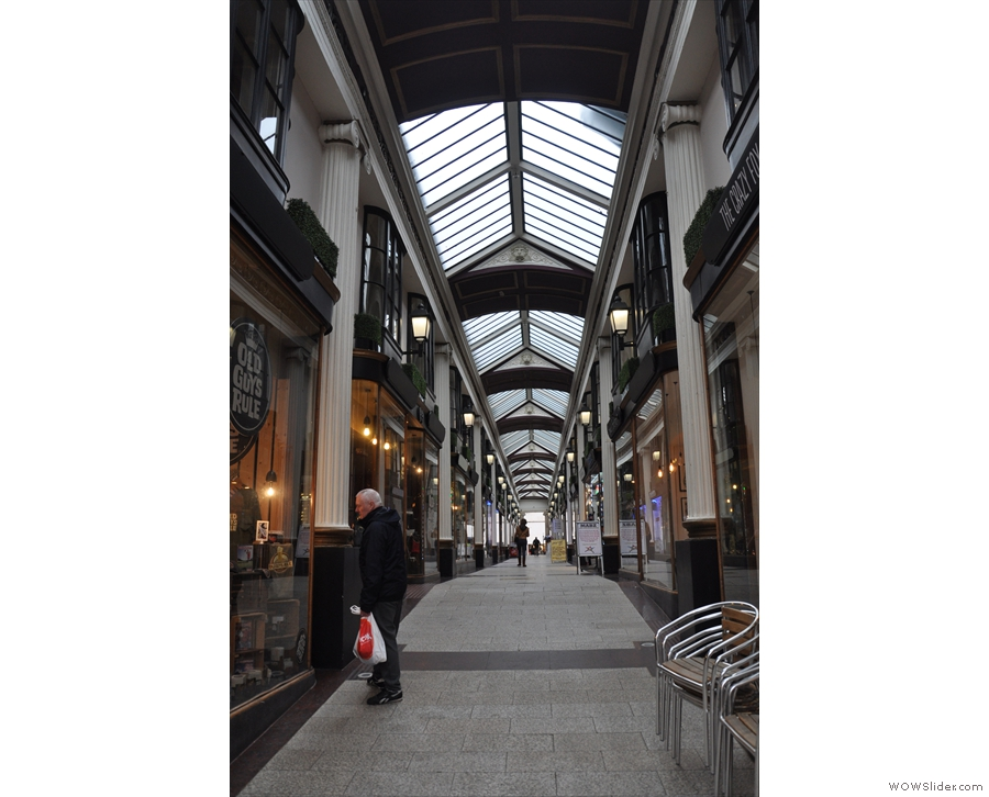 However, if you want to go inside, you need to head into St James Arcade itself.