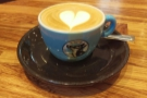 My flat white, made with the Roasted Rituals house-blend...