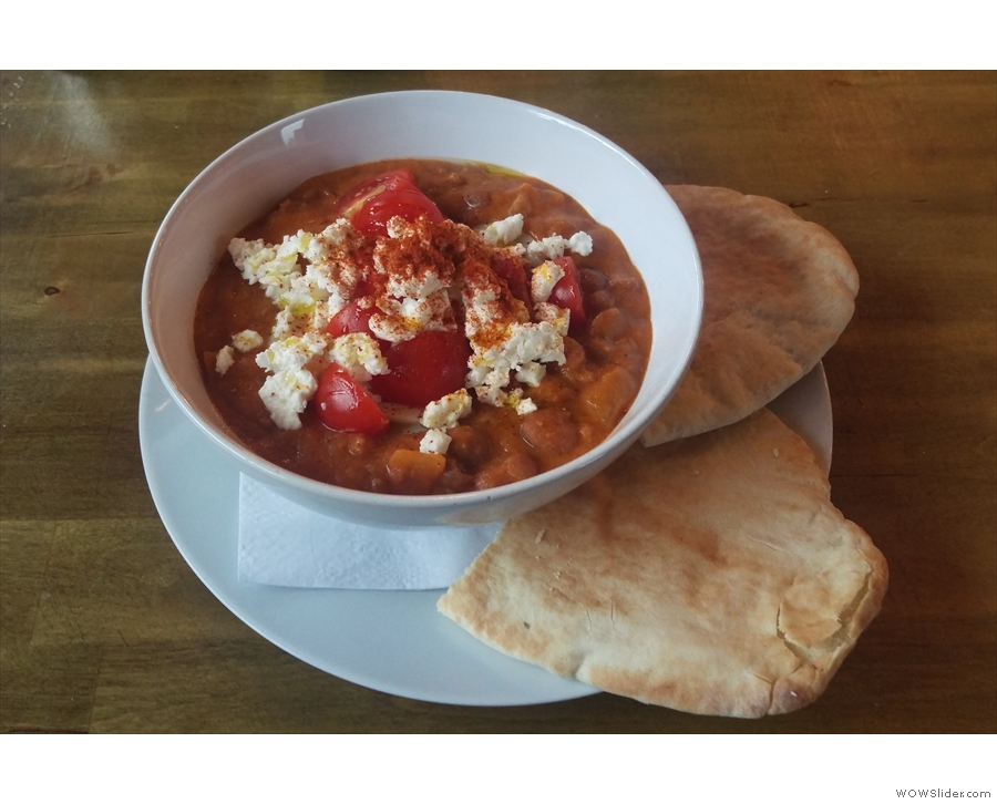I tried the Ful Medames, an Ethiopian speciality.