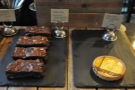 How about pecan nut brownies or a solitary citron tart?