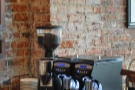 The espresso grinders are over on the left: house, single-origin and decaf...