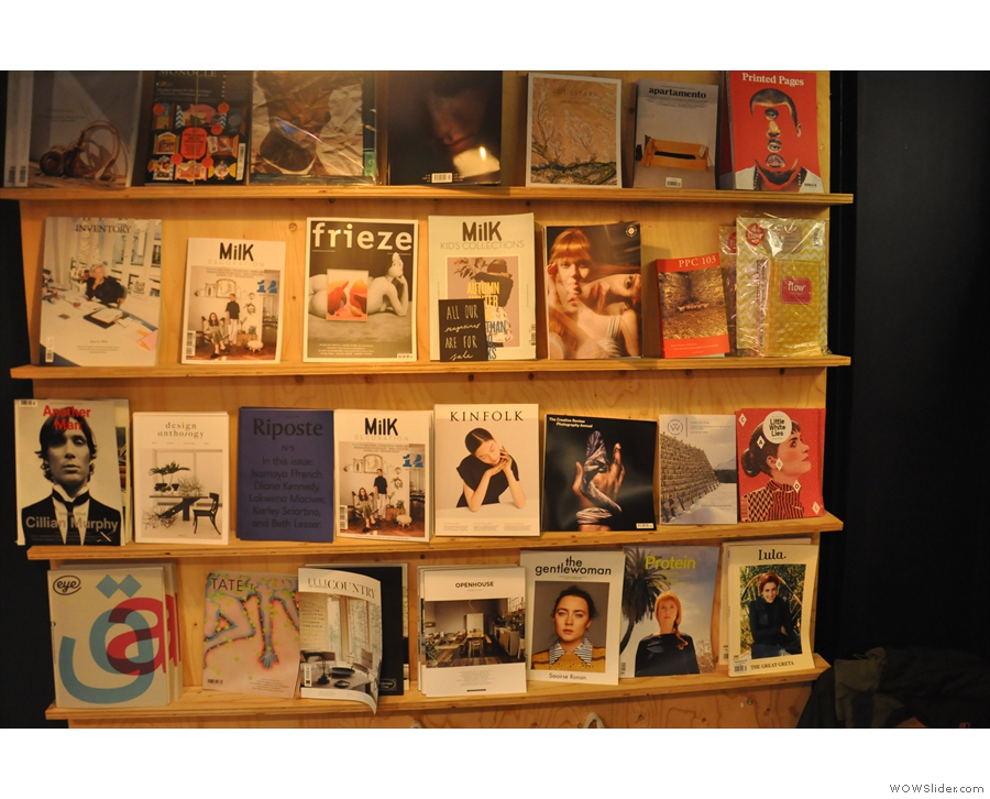 Cow & Co is more than just a cafe: there's also a magazine rack.