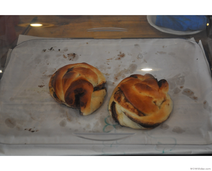 And finally, there are these Scandinavian chocolate buns over on the main counter.