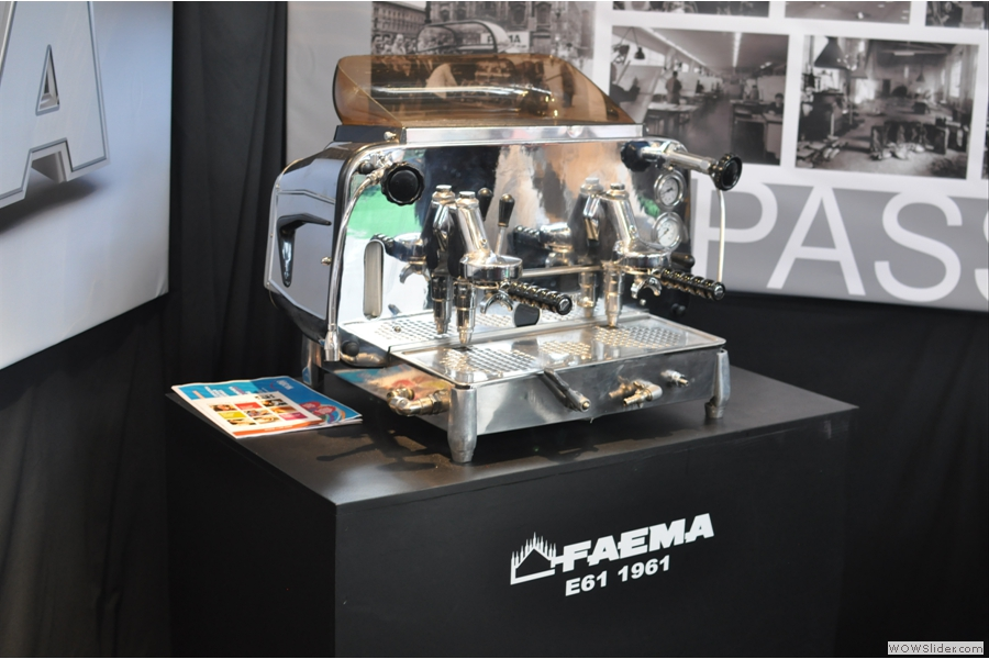 Another Faema E61, this time on the Faema Stand.