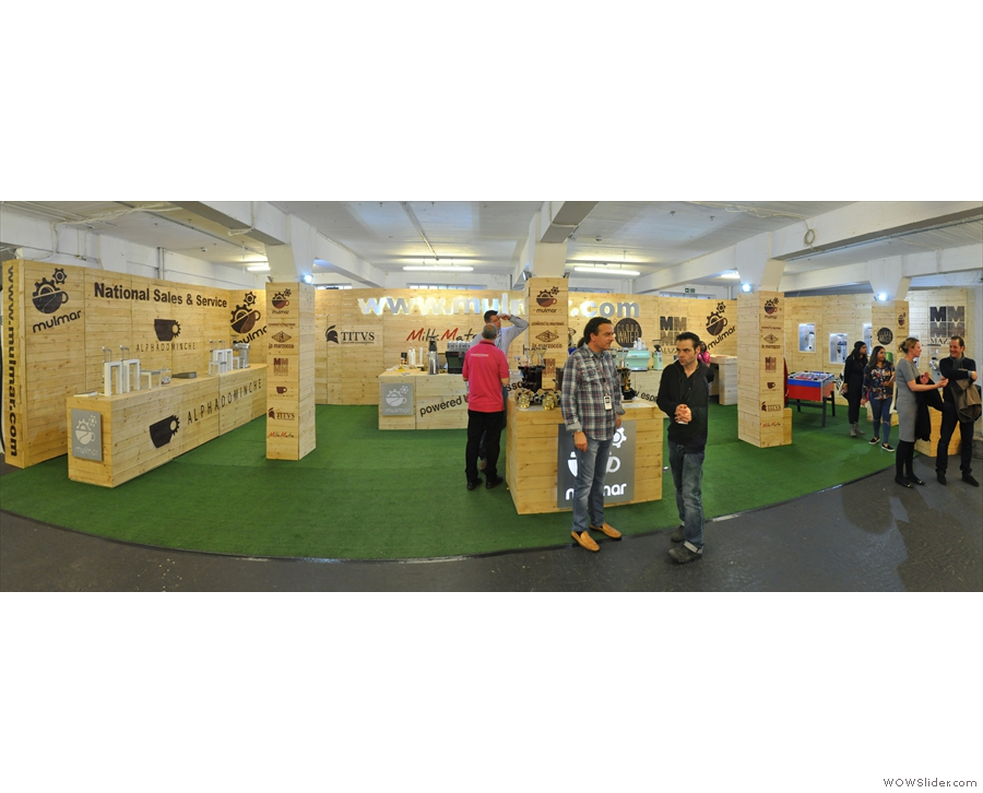Elsewhere the usual stands are back for another year, such as equipment suppliers Mulmar...