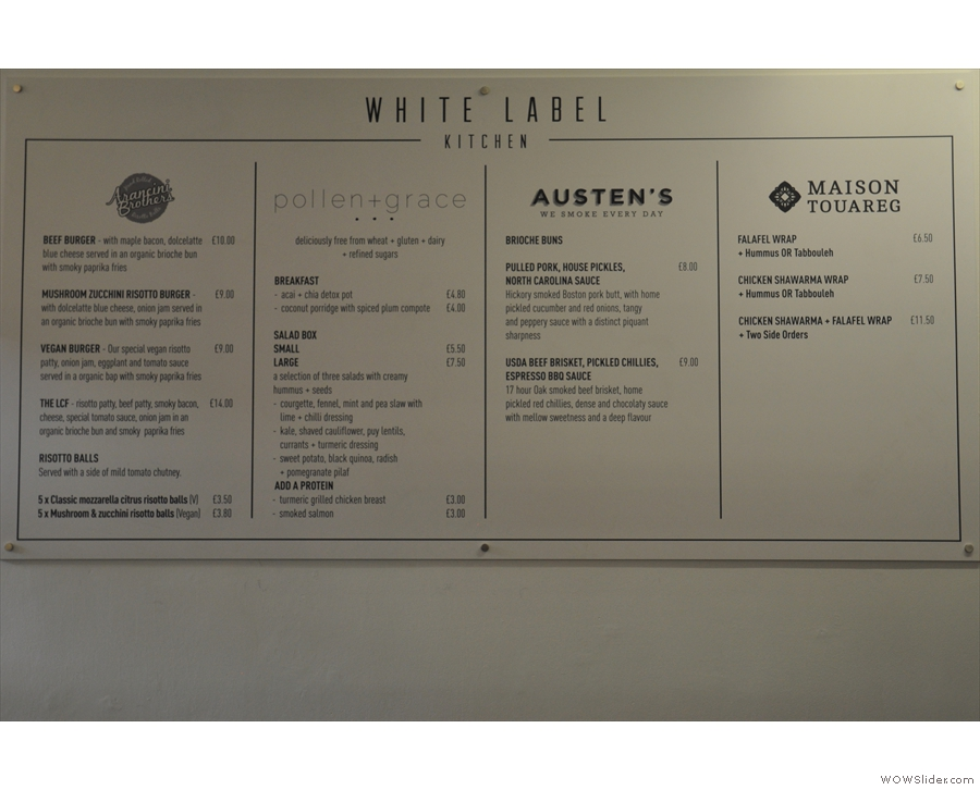 ... while the White Label Kitchen benefited from all the extra space.
