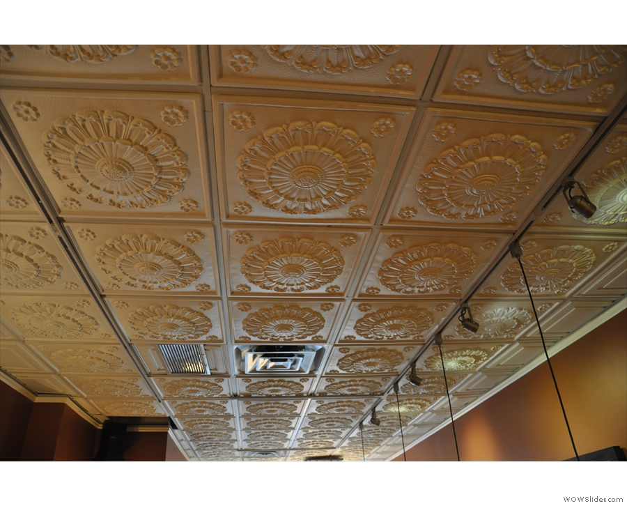 Speckled Ax has an amazing tin ceiling.