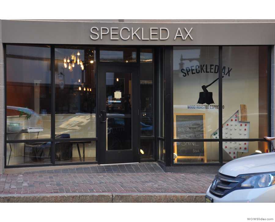 Portland's Speckled Ax on Congress Street, as seen from the other side of the road...