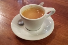 I started off with a decaf espresso, made with the Chickadee blend...