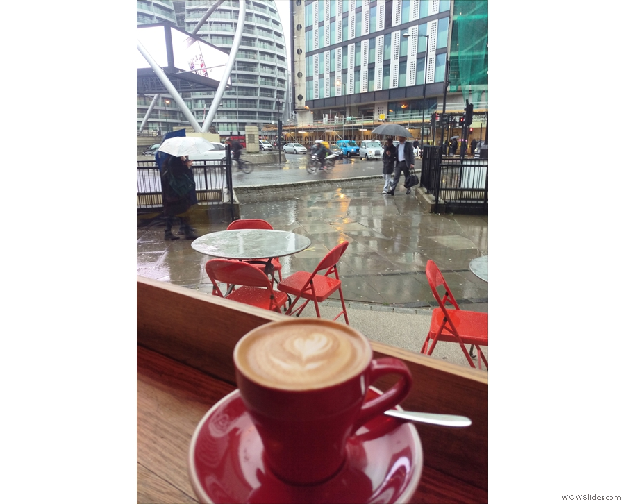 ... when my flat white and I were sheltering from the incessant rain.