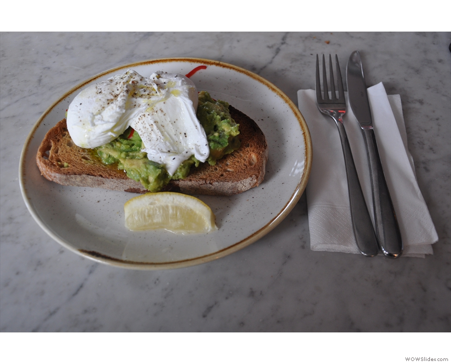 ... when I also had smashed avocado & poached eggs on toast for lunch...