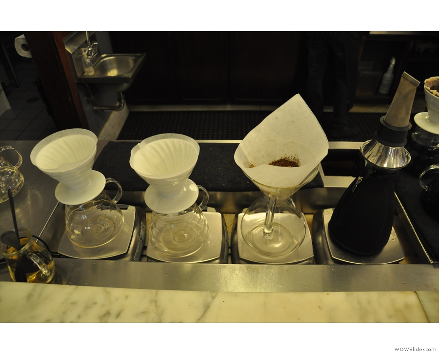 We ordered a Chemex, seen here on the right.