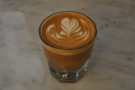 ... while Jeff, from Asado, had a cortado.