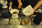 While my Chemex is busily degassing, a V60 is prepared next door.