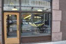 Intelligentsia occupies the right-hand side of the ground floor of the Monadnock Building...