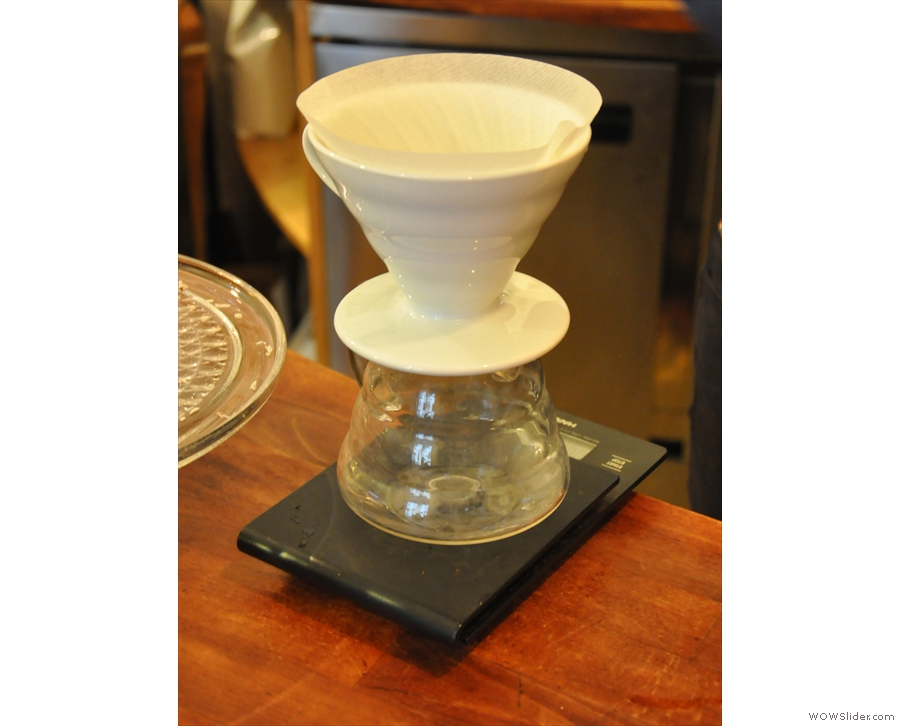 ... and two single-origins on filter. There's either batch-brew or they'll make you a V60.