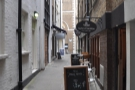 ... for two streets away, down a narrow and unassuming alley (Botolph Alley) you'll find...