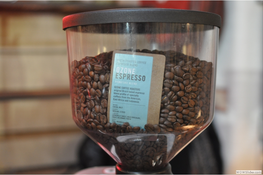 Although the signature espresso blend was also on offer...