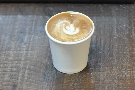 And here it is, a very fine flat white to round off my day.