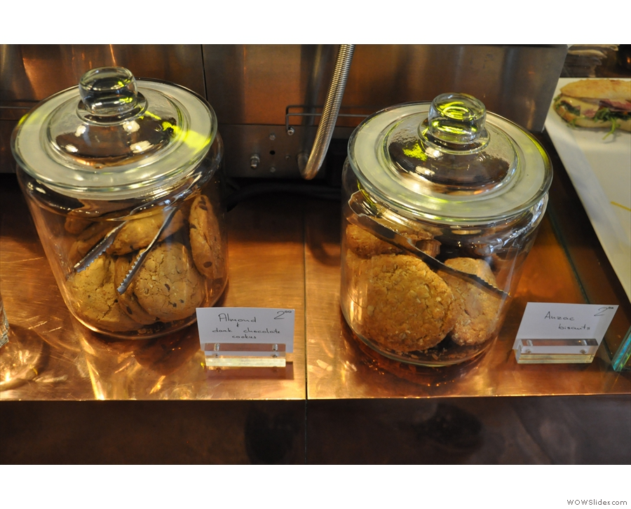 Just in case, there are also some cookies in jars.