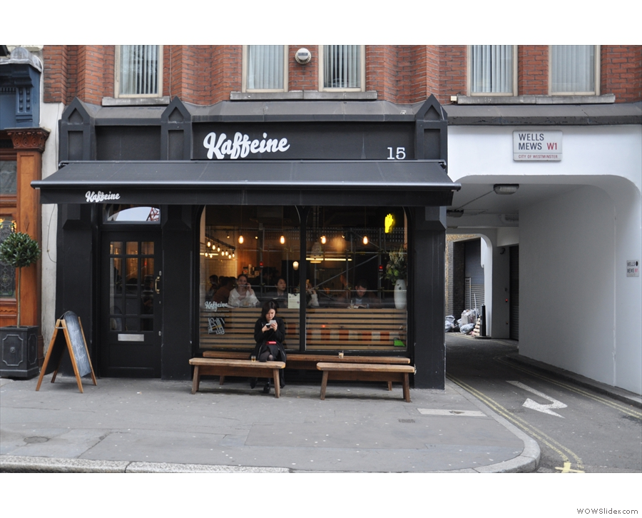 Kaffeine's second branch is on London's Eastcastle Street, not far from the original.