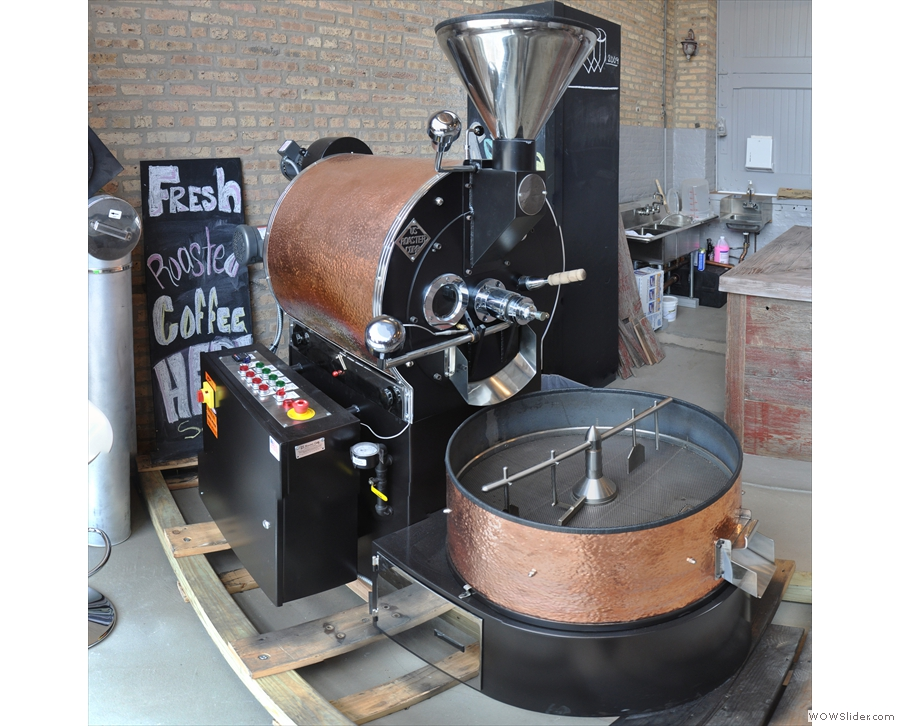 Here! Asado roasts all its own coffee, with each coffee shop having its own roaster.