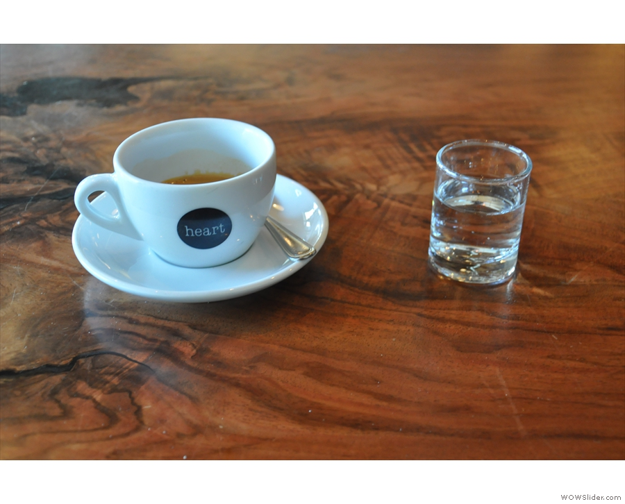 I tried the single-origin espresso, an Ethiopian Dabub Matebya...
