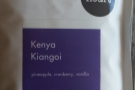 The spoils of war: I grabbed a bag of Kenyan Kiangoi to take home for my friend Alison at BLK.