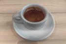 Let's not forget the espresso: a shot of the Holmbury Hill blend from an earlier visit.