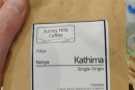 We're using a single-origin Kenya Kathima.