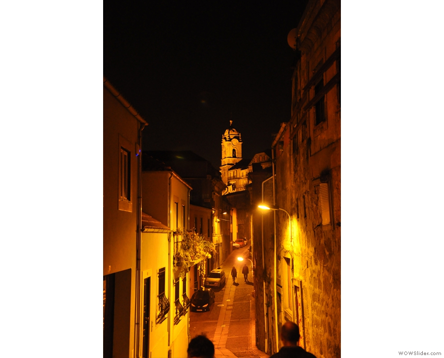 Porto is just as pretty at night. This is our street again & the Igreja Paroquial da Vitória.
