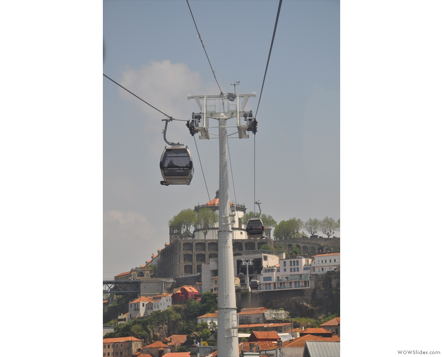 And a recent addition since we were last there: a cable car on the Vila Nova de Gaia side.