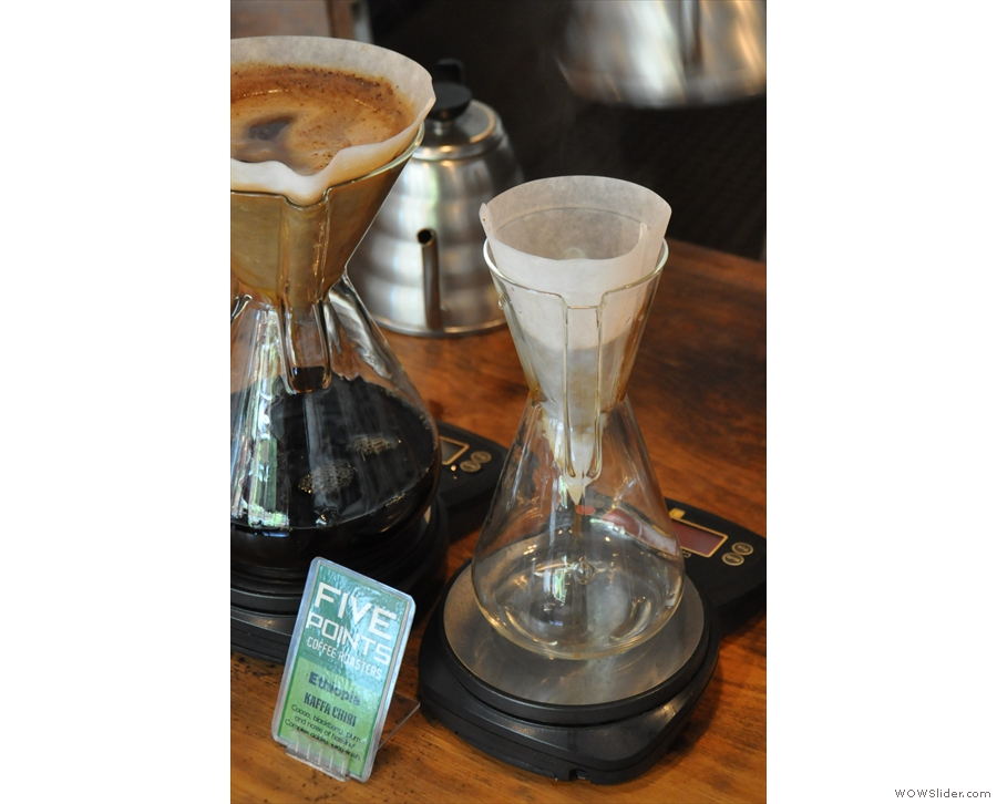 If you want one of the other single-origins, Five Points will make a Chemex just for you.