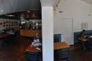 A panoramic view inside from the doorway between the two units.
