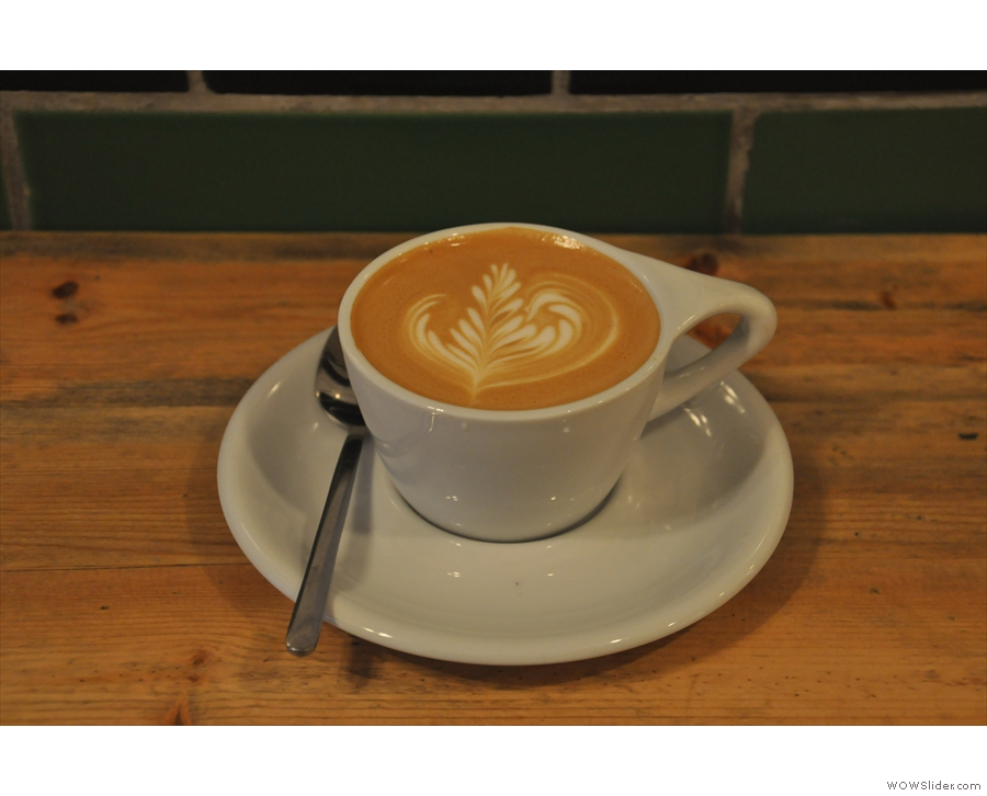 Andy also made me this handsome flat white for photographic purposes :-)