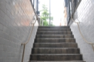 It is a long way down; here's the view looking back up the stairs...