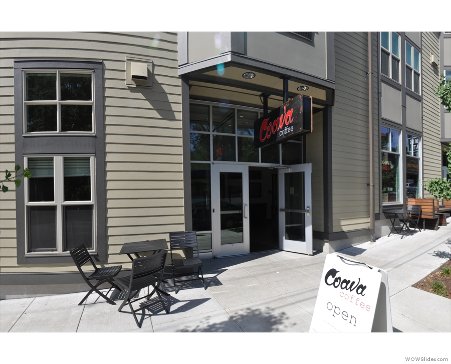This is the entrance to Coava: the benches further up belong to a place called Neat.