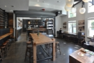 Here's the view back over the communal table, looking towards the counter.