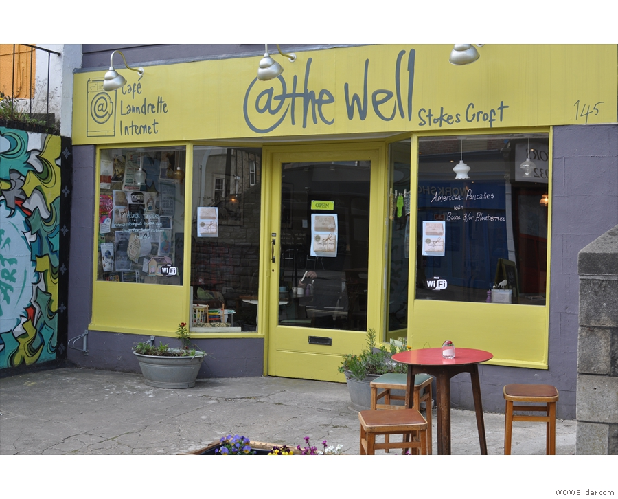 @the Well on Cheltenham Road, standing out in yellow despite being set back from the road.