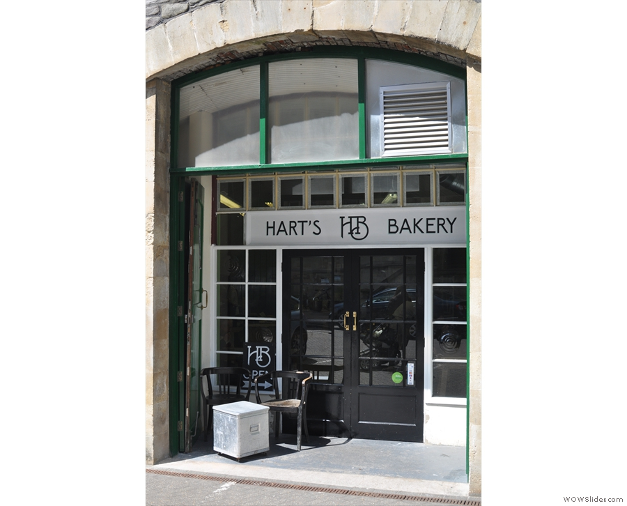 And here it is, Hart's Bakery, also basking in the spring sunlight.