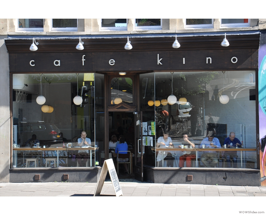 Cafe Kino, with its big, glass window looking out on Cheltenham Road